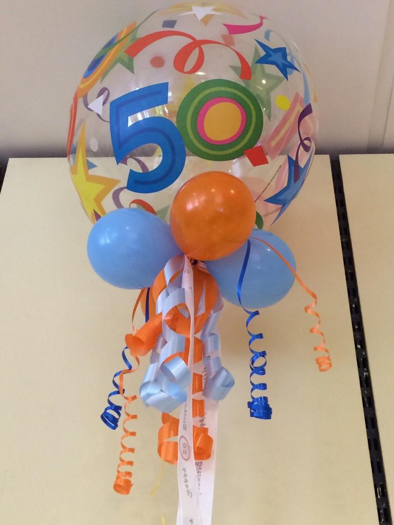 """Bubble-Ballon, """"Geburtstag"""" für runde Geburtstage, 15€, ca. 6 Wochen haltbar!!!"""