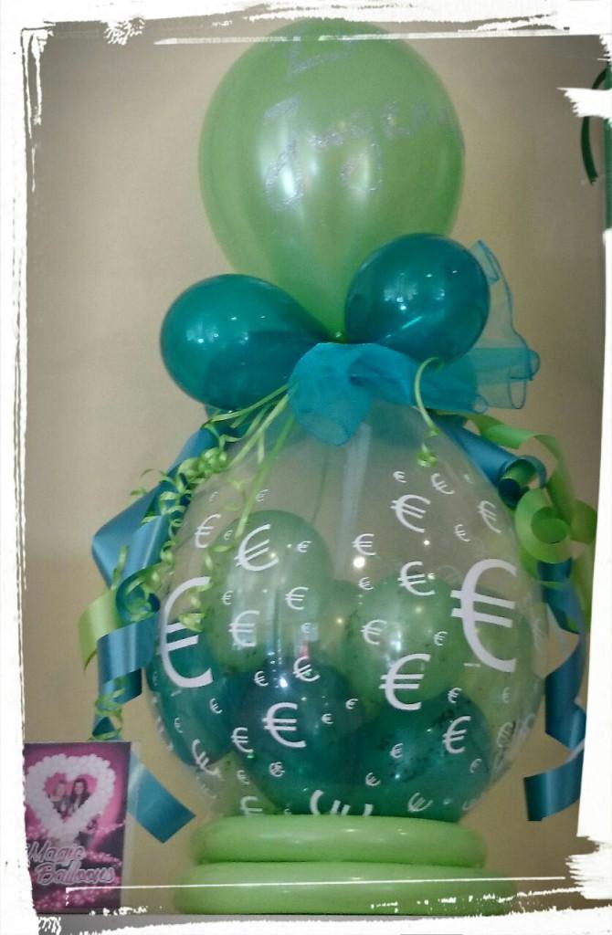 "Ballonverpackung ""Euro"", Grüntöne ab 15€"