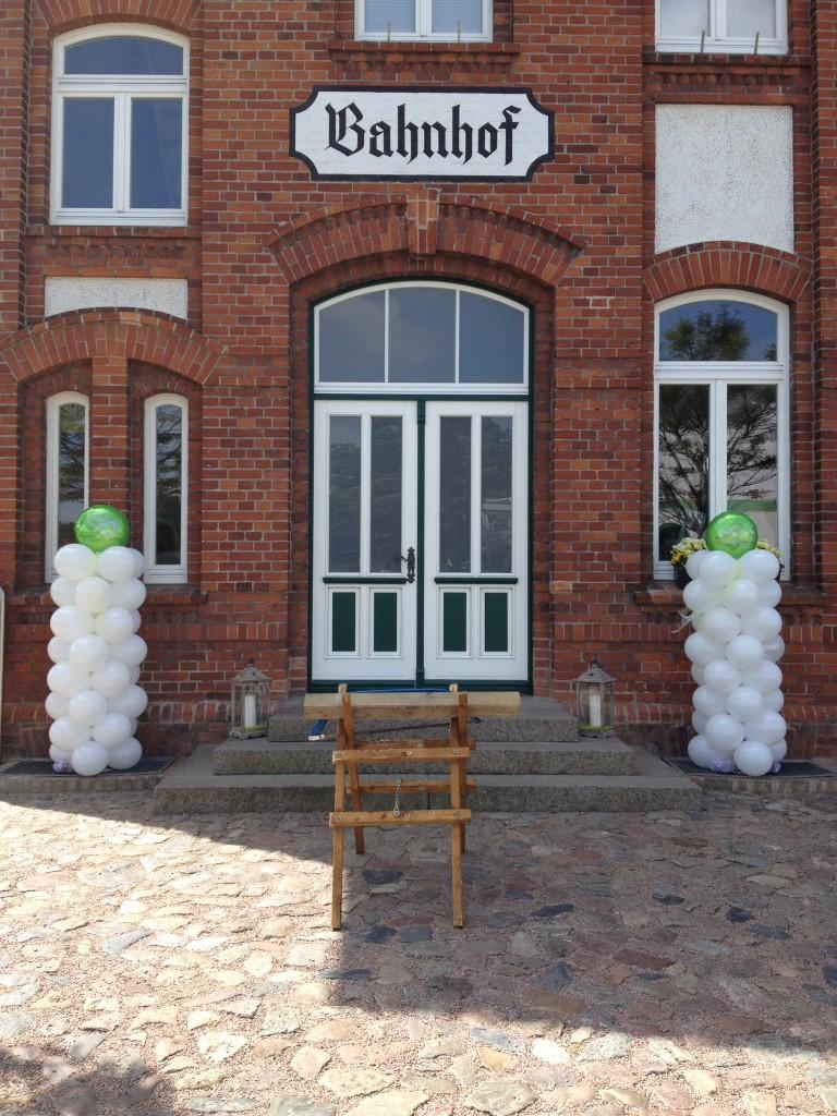 Ballonsäule grün/weiß, ca.1,80m hoch Stück ab 39€ zB. zur Hochzeit, Hochzeitstag, Geburtstag, Jubiläum